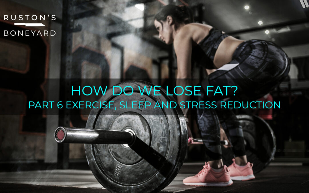 How Do We Lose Fat? Part 6 Exercise, Sleep and Stress Reduction